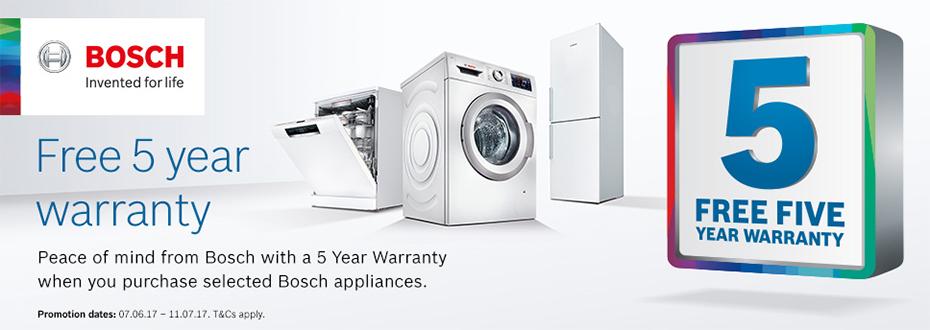 Bosch 5 Year Warranty