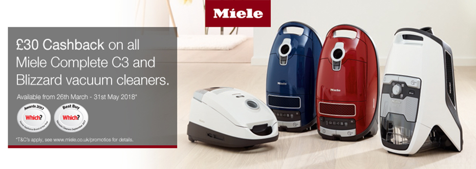 Miele Vacuum Cleaner Cash back