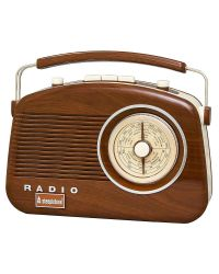 Steepletone Brighton Retro Style Radio in wood
