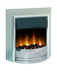 Dimplex Castillo CST20 Optiflame Electric Fire Chrome and Silver