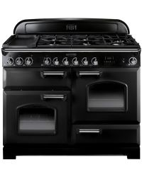 Rangemaster Classic Deluxe Range Cooker 110 Dual Fuel  Black CDL110DFFBL/C 79780