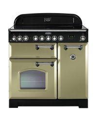 Rangemaster Classic Deluxe 90 Range Cooker Ceramic Olive Green CDL90ECOG/C 100890