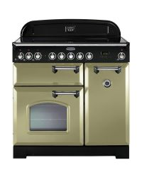 Rangemaster Classic Deluxe 90 Range Cooker Induction Olive Green CDL90EIOG/C