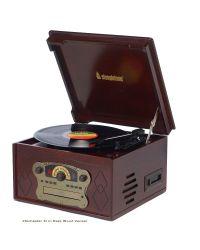 Steepletone Chichester III Dark Record Player, CD & Cassette Player