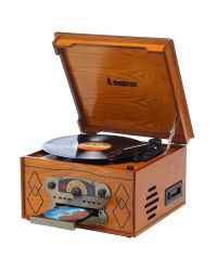 Steepletone Chichester III Light Record Player, CD & Cassette Player