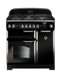 Rangemaster Classic 90 Range Cooker Dual Fuel Black CLA90DFFBL/C 116490
