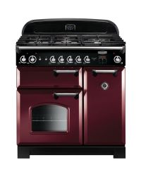 Rangemaster Classic Range Cooker 90 Natural Gas Cranberry CLA90NGFCY/C 116740