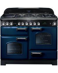 Rangemaster Classic Deluxe Range Cooker 110 Dual Fuel Blue CDL110DFFRB/C 112910