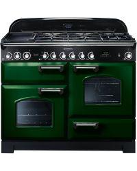 Rangemaster Classic Deluxe Range Cooker 110 Dual Fuel Green CDL110DFFRG/C 112890