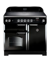Rangemaster CLASSIC 100 Range Cooker CERAMIC BLACK CLA100ECBL/C 117600