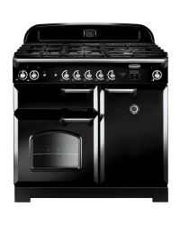 Rangemaster Classic 100 Range Cooker Dual Fuel Black CLA100DFFBL/C 116880