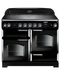 Rangemaster Classic Range Cooker 110 Ceramic Black CLA110ECBL/C 117510