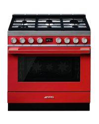 Smeg Range Cooker 90 Dual Fuel Portofino Red CPF9GPR
