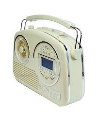 Steepletone Devon Retro Style DAB Radio in Cream