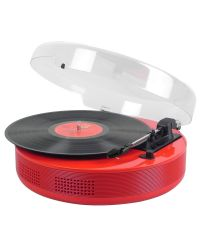 Steepletone DISCGO BT Round 3-Speed Record Player with AUX-IN /-OUT
