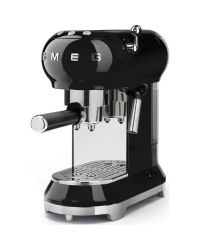 SMEG ECF01BLUK Black Retro Style Coffee Machine