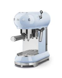 SMEG ECF01PBUK Pastel Blue Retro Style Coffee Machine