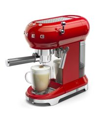 SMEG ECF01RDUK Red Retro Style Coffee Machine