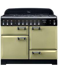 Rangemaster Elan Deluxe Range Cooker 110 Dual Fuel Olive Green ELA110DFFOG 118040