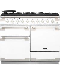 Rangemaster Elise 110 Range Cooker Dual Fuel White  ELS110DFFWH/ 94250