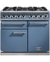 Falcon 1000 Deluxe Range Cooker 100  Dual Fuel China Blue F1000DXDFCA/NM