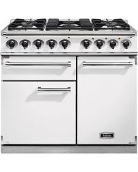 Falcon 1000 Deluxe Range Cooker White Dual Fuel F1000DXDFWH/NM