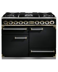 Falcon 1092 Deluxe Range Cooker 110 Dual Fuel Black F1092DXDFBL/BM