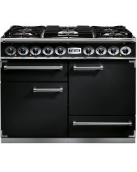 Falcon 1092 Deluxe Range Cooker 110 Dual Fuel Black F1092DXDFBL/CM