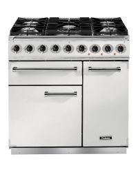 Falcon 900 Deluxe Range Cooker 90 Dual Fuel White F900DXDFWH/NM 82380