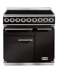 Falcon 900 Deluxe Range Cooker 90 Induction Black  F900DXEIBL/C-EU