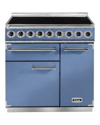 Falcon 900 Deluxe Range Cooker 90 Induction China Blue F900DXEICA/N-EU