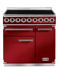 Falcon 900 Deluxe Range Cooker 90 Induction Cherry Red F900DXEIRD/N-EU