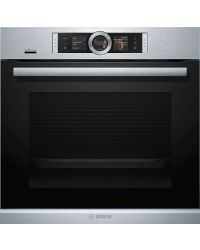 Bosch HRG675BS1B single multi-function Pyrolytic Oven with added steam function