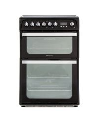 Hotpoint HUD61K Double Oven Dual Fuel Cooker