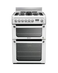 Hotpoint HUD61P Double Oven Dual Fuel Cooker