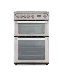Hotpoint HUG61X  Double Oven Lidded Gas Cooker