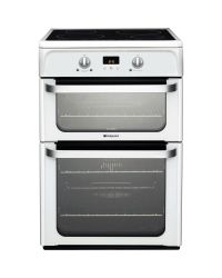 Hotpoint HUI612P Double Oven  Electric Cooker