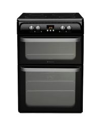 Hotpoint HUI614K Double Oven  Electric Cooker
