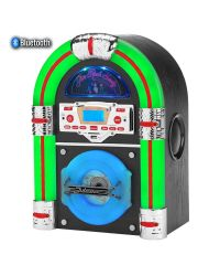 Steepletone Jive Rock Sixty Dark Table Top Jukebox