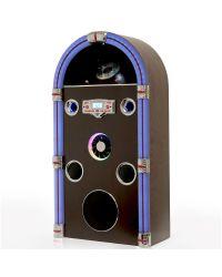 Steepletone Jukebox Jive Swing 90 Bluetooth Retro CD/MP3 CD LED Light to Sound