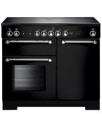 Rangemaster Kitchener Range Cooker 100 Ceramic Black KCH100ECBLC 11280