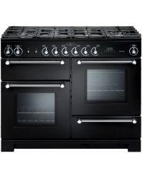 Rangemaster Kitchener Range Cooker 110 Dual Fuel Cooker Black KCH110DFFBL/C 76280