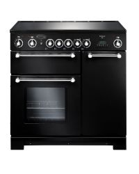 Rangemaster Kitchener Range Cooker 90 Ceramic Black KCH90ECBL/C 79270