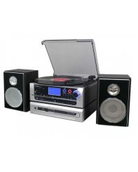Steepletone Metro Record Player with CD to CD buffering Vinyl /Cassette/CD/Aux-In