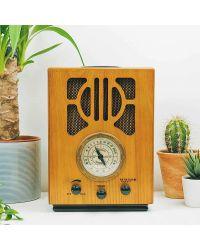 Steepletone NR880 LXA 1930'S Style MW-FM Radio With Amazon Alexa