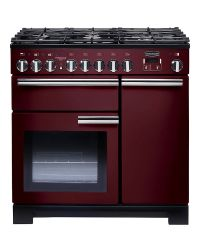Rangemaster Professional Deluxe 90 Range Cooker Dual Fuel Cranberry PDL90DFFCY/C 97620