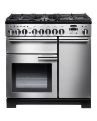 Rangemaster Professional Deluxe 90 Range Cooker Dual Fuel Stainless PDL90DFFSS/C 97590