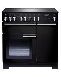 Rangemaster Professional Deluxe 90 Range Cooker Induction Black PDL90EIGB/C 97870