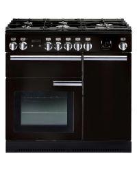 Rangemaster Professional+ Range Cooker 90 Gas Black PROP90NGFGB/C 91930