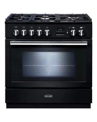 Rangemaster Professional + FXP Range Cooker 90 Dual Fuel Black PROP90FXPDFFGB 92730